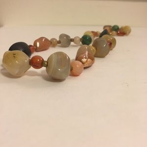 Colorful Mixed Tumbled Stone Necklace